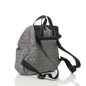 Babymel convertible changing bag , Robyn grey origami heart, back view, backpack nappy bag, rucksack bag baby bag