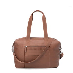 Stef Vegan Leather Hospital Bag Tan