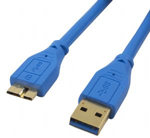 Cabac 3m USB 3.0 AM Micro BM G/P Blue Cable LS