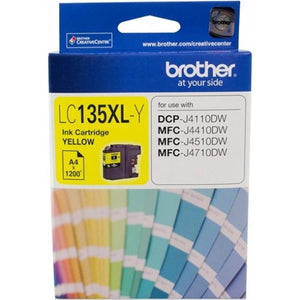 BROTHER LC-135XLY INK CARTRIDGE HIGH YIELD YELLOW