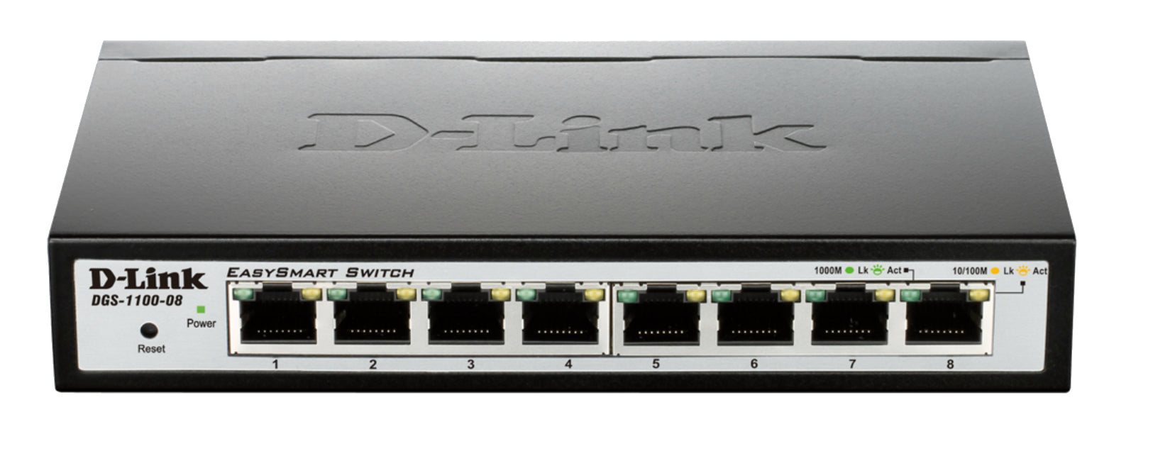 D-Link DGS-1100-08 network switch Managed L2 Gigabit Ethernet (10/100/1000) Black