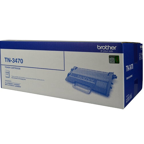 Brother TN-3470 Mono Laser Toner - High Yield upto 12000 Pages- L6200DW, L6400DW, L6700DW, L6900DW