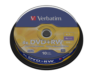 Verbatim DVD+RW Matt Silver 4.7 GB 10 pc(s)