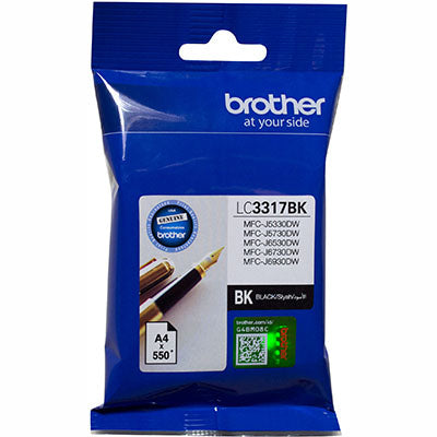 BROTHER LC3317BK INK CARTRIDGE 550 PAGES BLACK