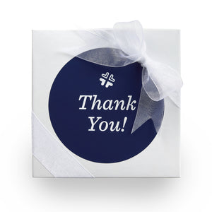 Thank you gift box for creative thank you gifts and thank you cookies.