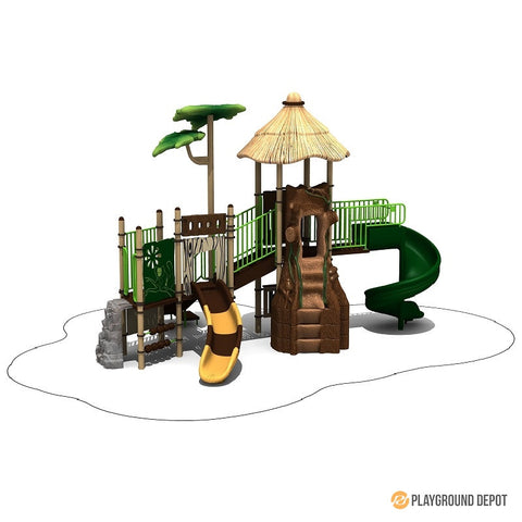 Tahitian village - Commercial Playground Equipment