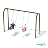 "3.5"" Arch Swing Frame 8ft - 1 Bay"