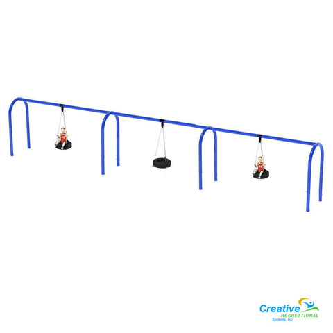 "5"" ARCHED TIRE SWING FRAME (8') - 3 BAY"