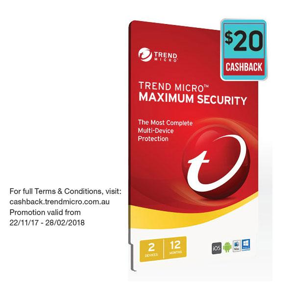 Trend Micro Maximum Security 2017- 1-2 Devices