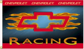 Chevy racing flames
