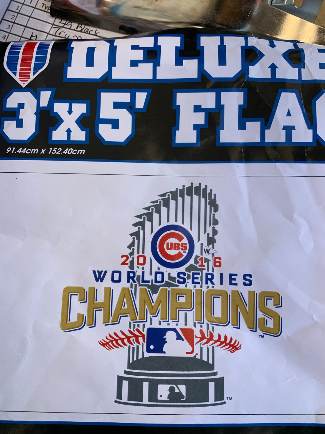 Chicago Cubs championship flag