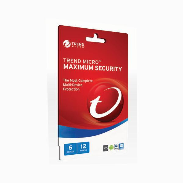 Trend Micro Maximum Security 2017- 1-6 Devices
