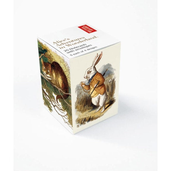 Alice in Wonderland Mini Notecard Cube
