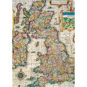 Map of Great Britain Mini Notebook