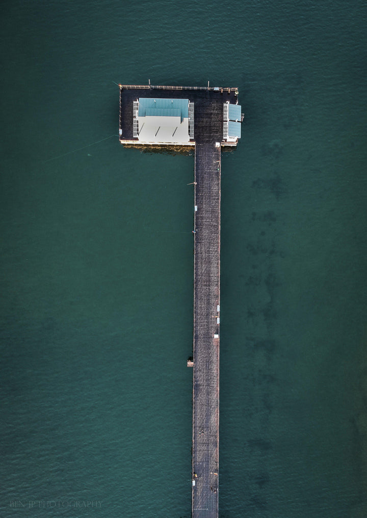 Birds-eye view of Woody Point jetty