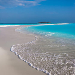 Deserted Sandbank in The Maldives
