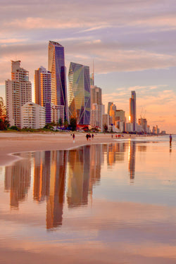 Reflections of a Gold Coast sunset