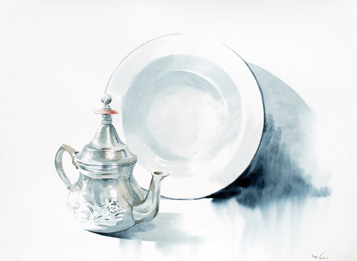 Teapot and Plate