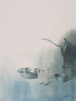 Still life with porcelain jug