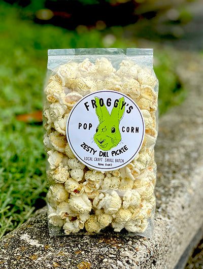 Froggy's Popcorn Flavor of the Month - Zesty Dill Pickle