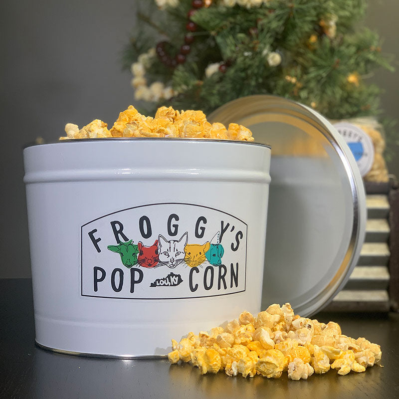 Froggy's Popcorn Holiday Tin