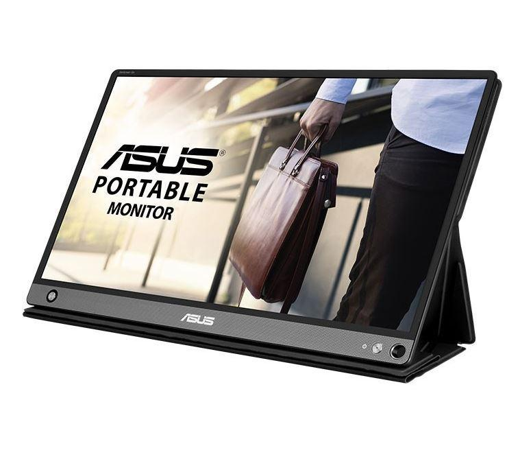 ASUS ZenScreen Go MB16AHP Portable USB Monitor with Embedded7800mAh Battery 4hrs lifecycle, 800g Lightweight