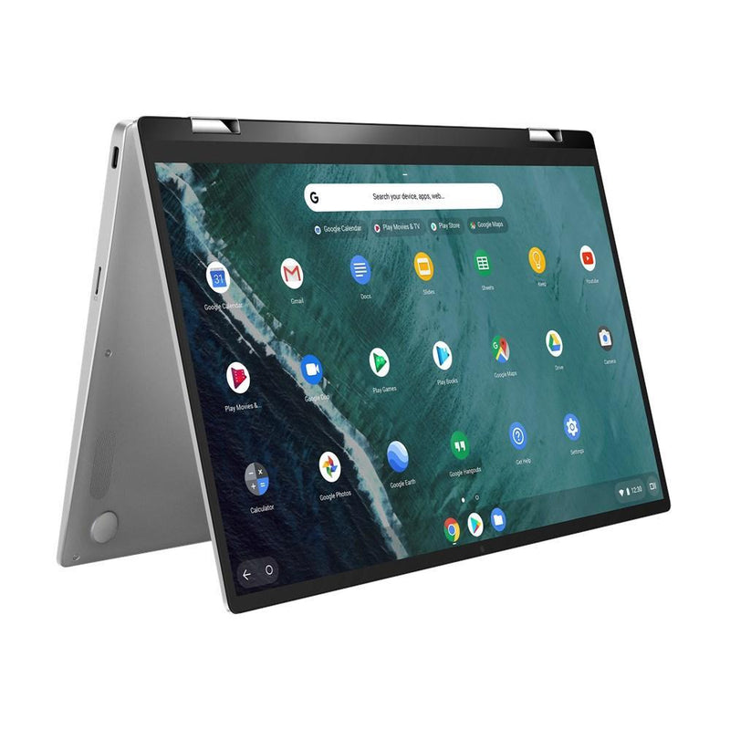 """ASUS CHROMEBOOK FLIP,14"""" FHD Touch,INTEL M3-8100Y,8GB RAM,32GB EMMC,1 x USB 3.1,2x USC-C,HD webcam,CHROME OS,SILVER,1  YR PUR"""