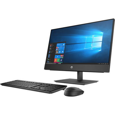 """HP 400 ProOne G5 AIO, 23.8"""" T, i5-9500T, 8GB, 1TB, W10P64, 1-1-1"""