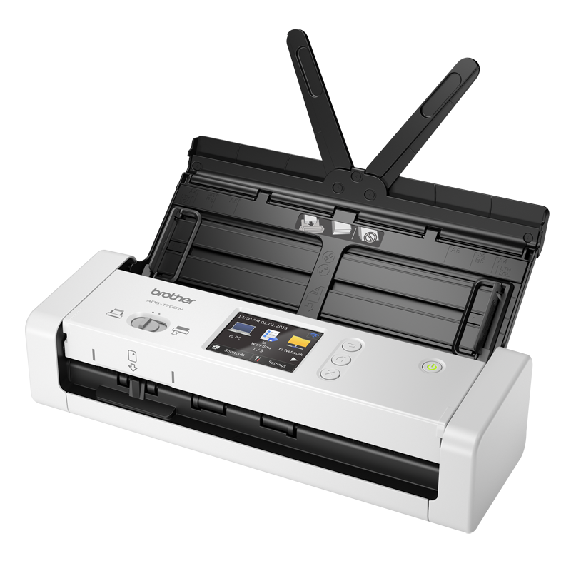 COMPACT DOCUMENT SCANNER with Touchscreen LCD display & WiFi (25ppm)