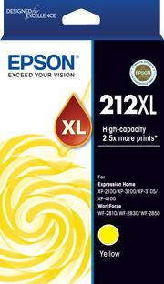 212XL Std Yellow Ink - XP-4100, XP-3105, XP-3100, XP-2100, WF-2850, WF-2830, WF-2810