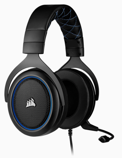 CORSAIR HS50 PRO STEREO Gaming Headset, Blue