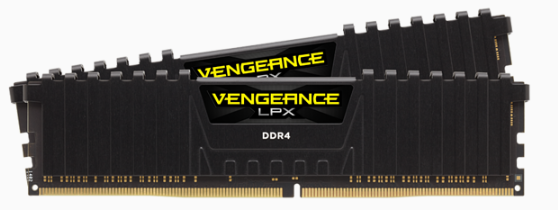 CORSAIR Vengeance LPX DDR4, 3600MHz 16GB 2 x 288 DIMM, Unbuffered, 18-22-22-42, black Heat spreader,1.35V, XMP 2.0,for AMD Ryzen
