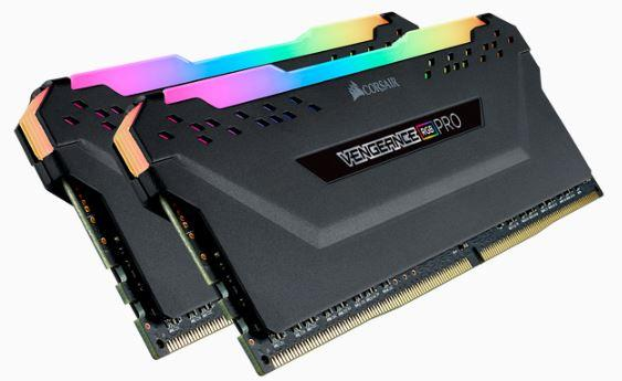 CORSAIR Vengeance RGB PRO DDR4, 3200MHz 32GB 2x 288 DIMM, Unbuffered, 16-18-18-36, black Heat spreader,1.35V, XMP 2.0,for AMD Ryzen