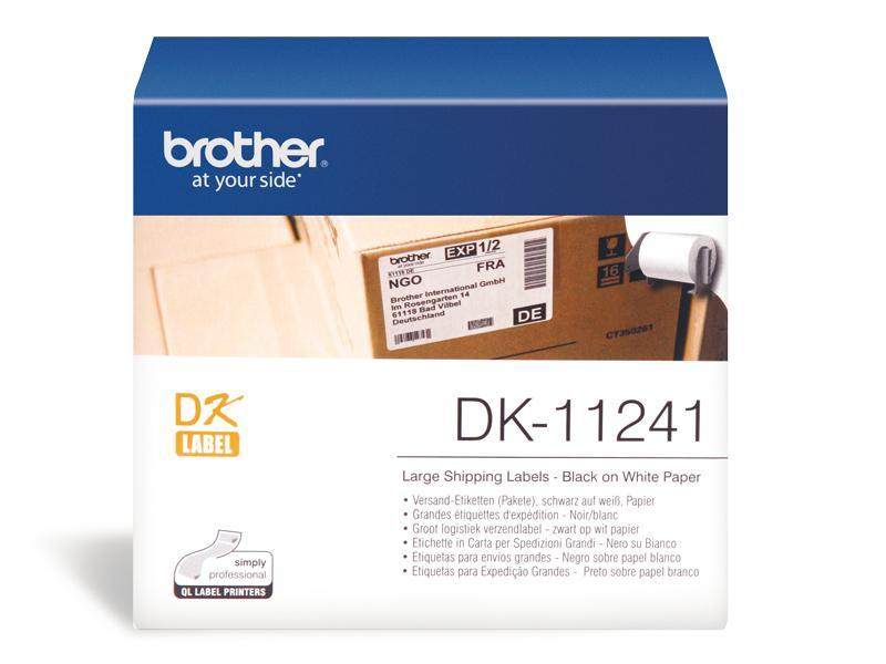 LARGE WHITE SHIPPING LABELS 102MMX 152MM 200 PER ROLL-Replace DK-11241