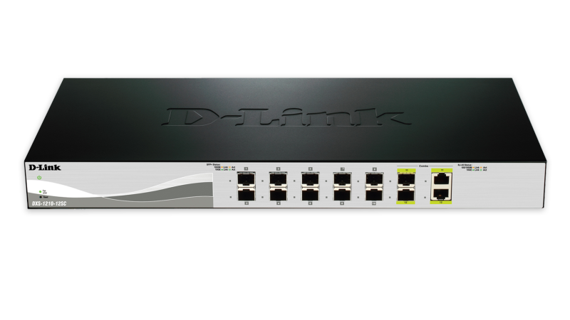 12-Port 10 Gigabit WebSmart Switch with 12 SFP+ Ports and 2 10GBase-T (Combo) ports