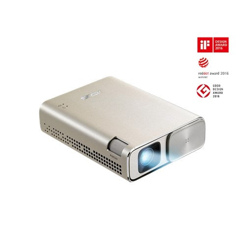 ASUS ZenBeam Go E1Z USB Pocket Projector, 150 Lumens, Built-in 6400mAh , Up to 5-hour, Power Bank, Auto Keystone Correction, Micro USB / Type-C