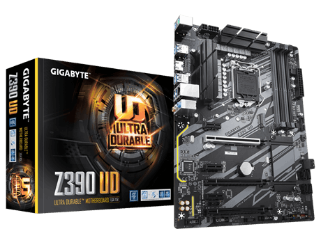 INTEL, Z390, ULTRA DURABLE, LGA1151, 4xDDR4, 1xHDMI, 1xRJ45, 6xPCI-E, ATX, 1xM.2, 6xSATA, 3 Years Warranty