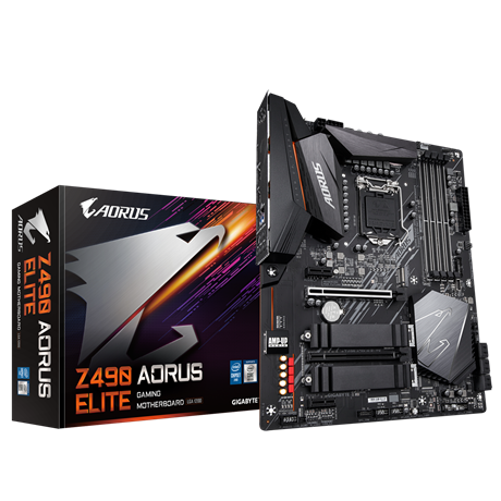 INTEL,Z490 AORUS MB w Direct 12 Phase Digital VRM Design, Comprehensive Thermal Solution w Enlarged Surface Heatsink, 2.5GbE LAN, RGB FUSION 2.0