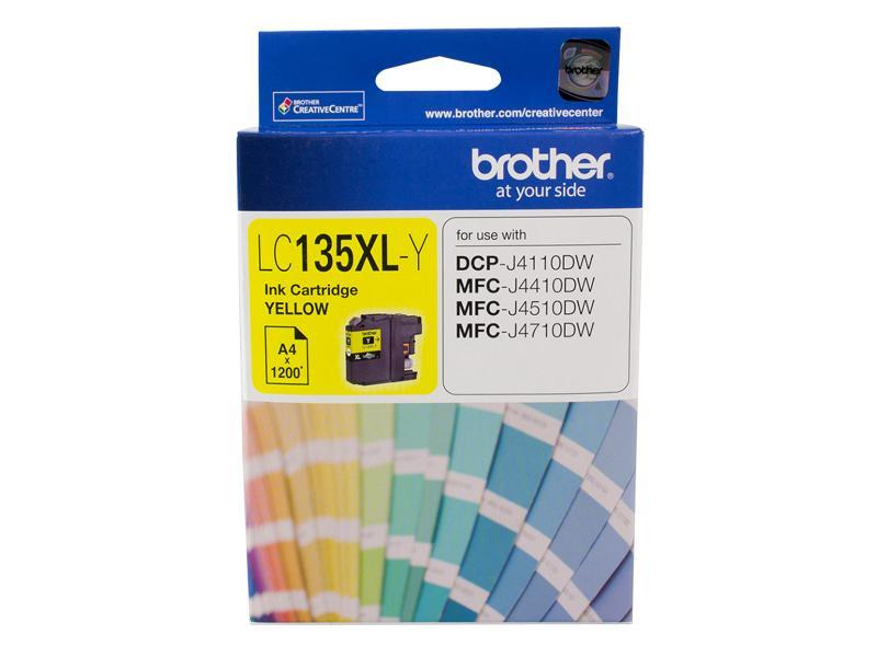 YELLOW INK CARTRIDGE TO SUIT DCP-J4110DW/MFC-J4410DW/J4510DW/J4710DW - UP TO 1200 PAGES