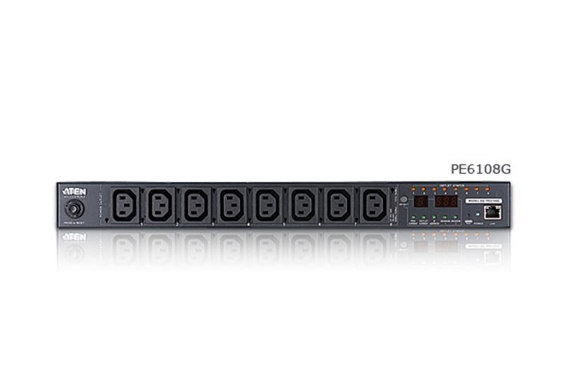 ATEN Metered & Switched Eco PDU - 1U, 10A, INPUT: C14, OUTPUT: 8X C13 [ OLD SKU: PE6108 ]