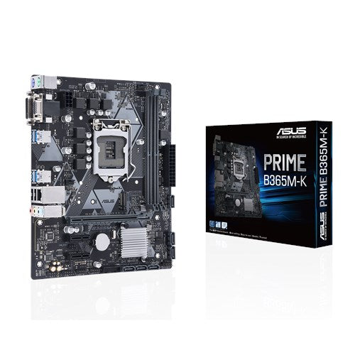 ASUS Intel LGA-1151 mATX motherboard with LED lighting, DDR4 2666MHz, M.2 support, SATA 6Gbps