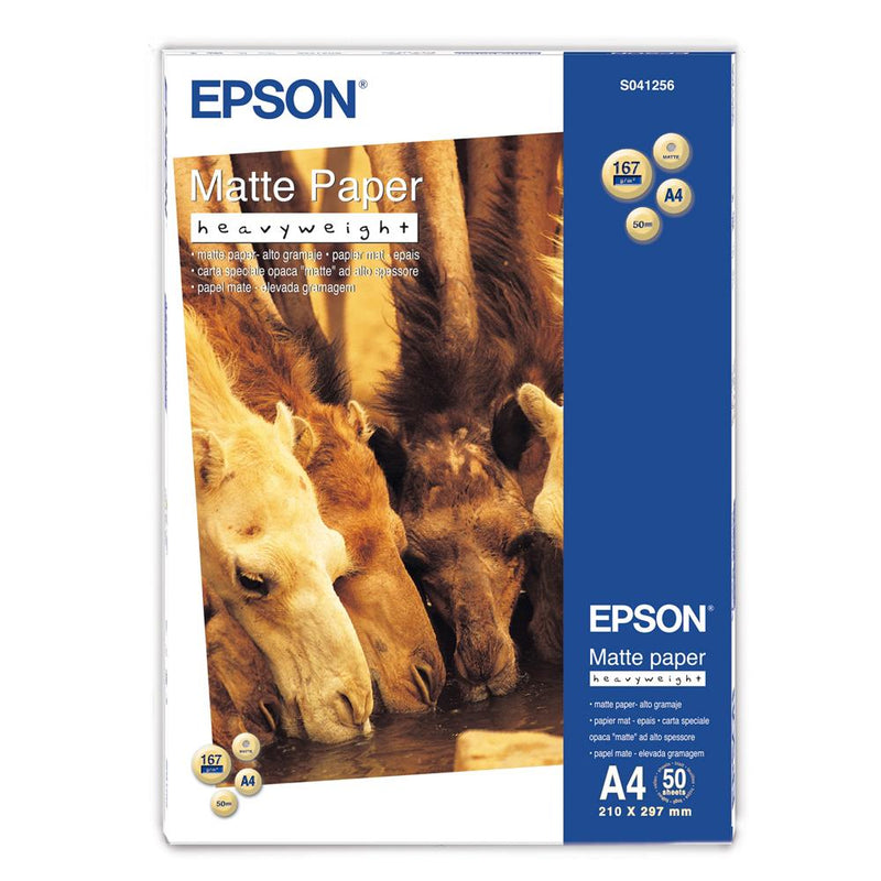 Epson A4 Matte Paper Heavy Weight - 50 Sheets (167gsm)
