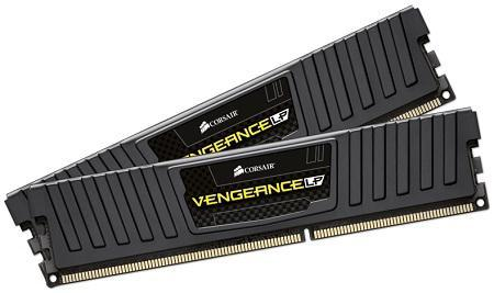 CORSAIR Vengeance LP 16GB (2x8GB) DDR3 DRAM DIMM 1600Mhz 9-9-9-24 Black Heat spreader 1.5V XMP 1.3