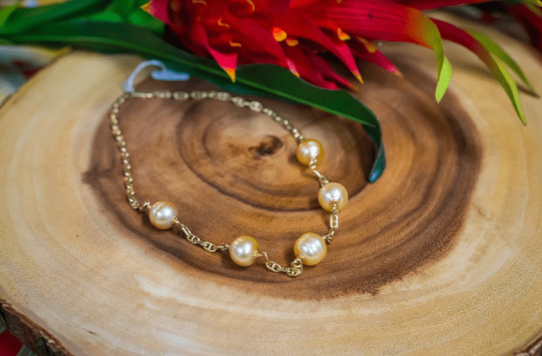 South Sea Pearl 18in Necklace: 14K Gold