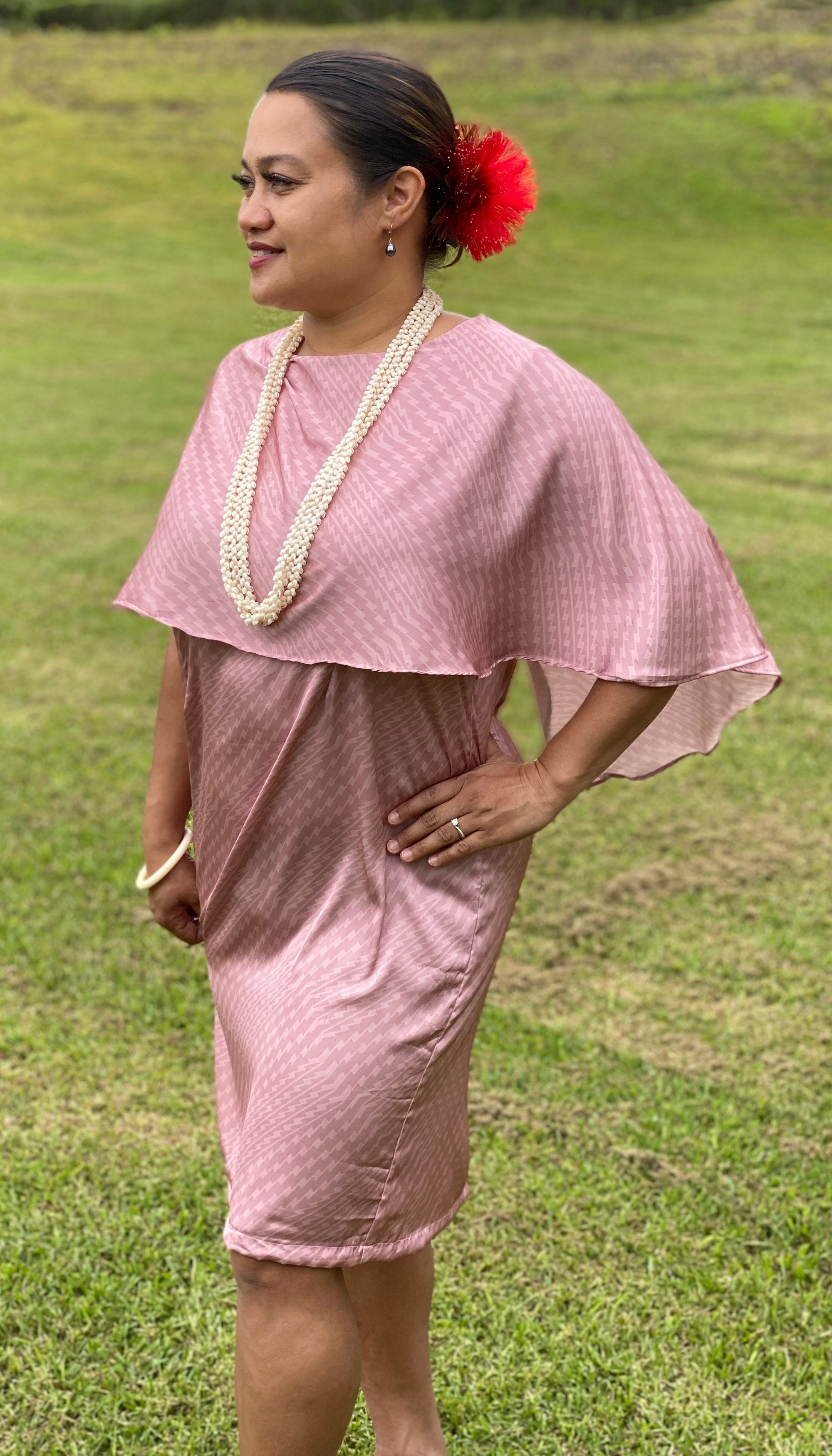 Apapane Dress Silk: Pink