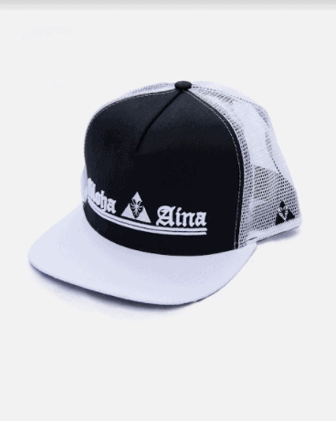 Aloha Aina Embroidered Snapback: White/Black