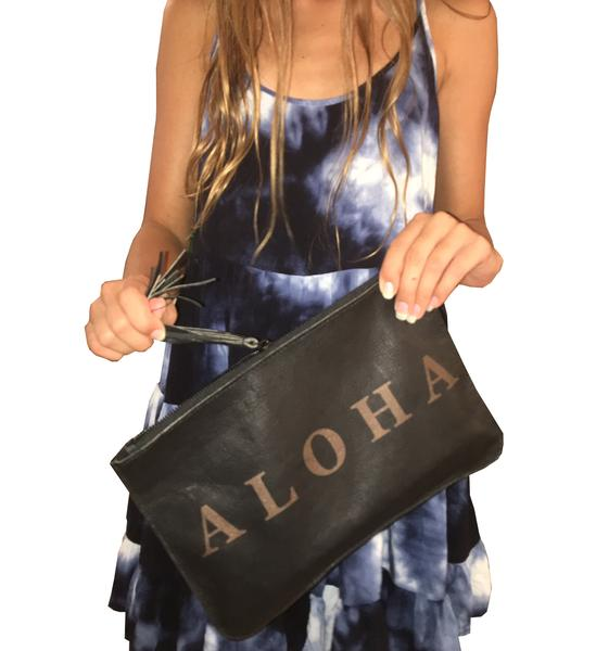 ALOHA Itallian Leather Clutch