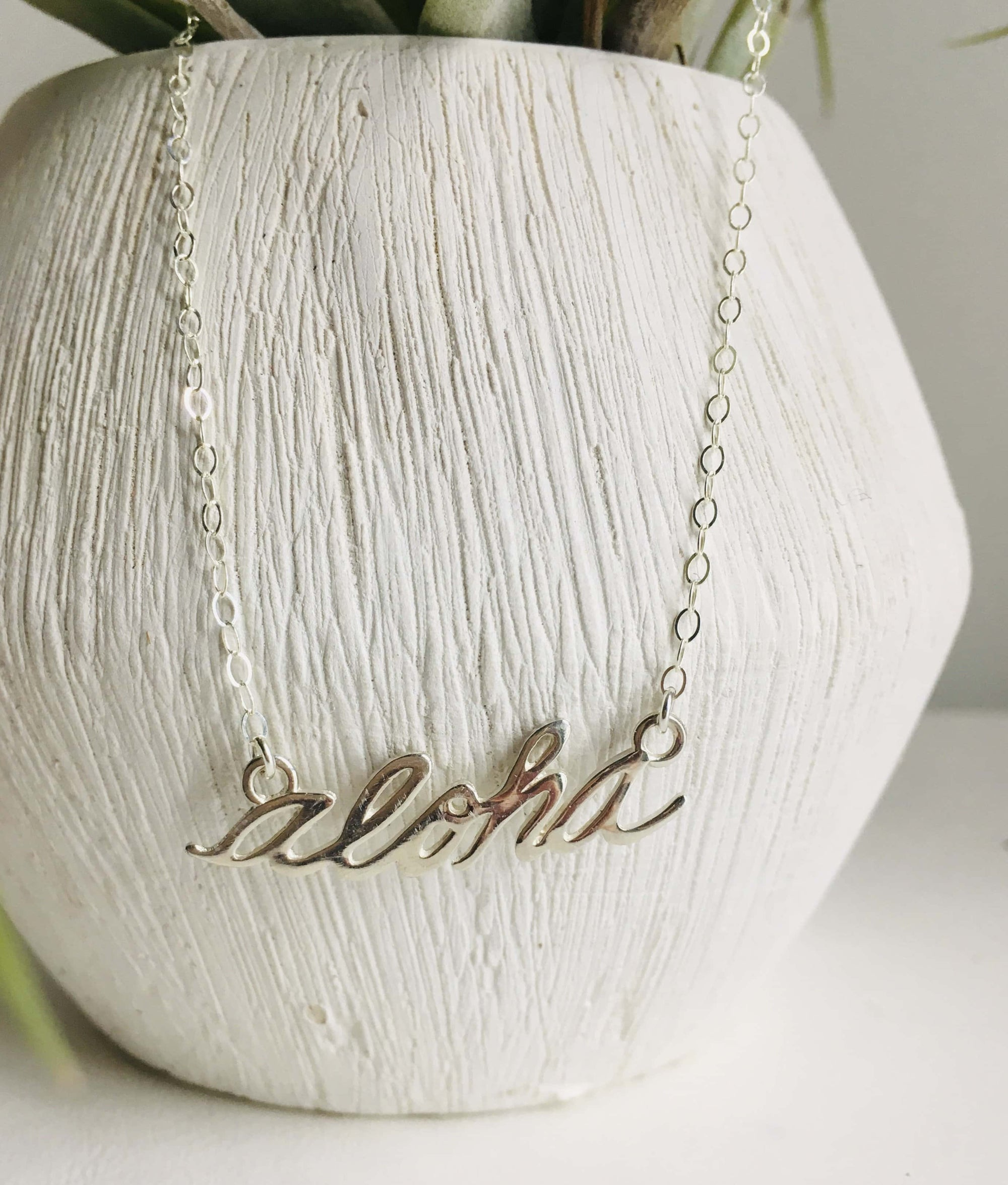 Aloha Necklace Silver