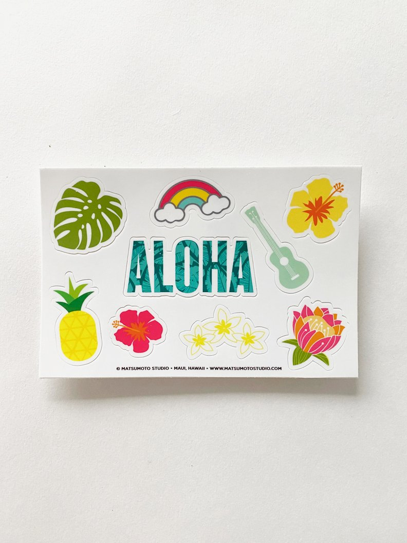 Aloha Sticker Sheet