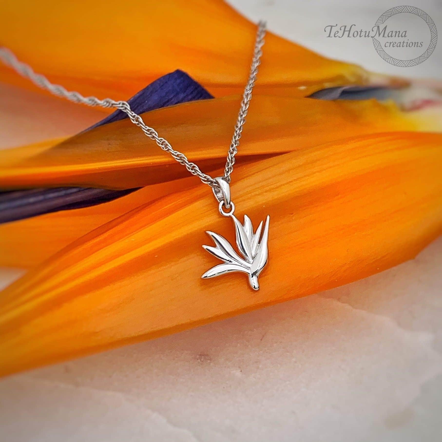 Bird of Paradise Necklace in Sterling Silver